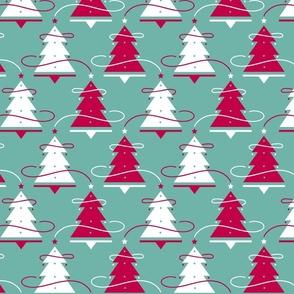 Christmas Trees Teal