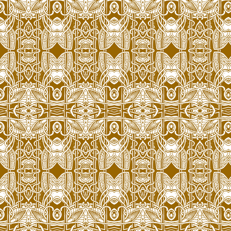 Nouveau Deco Vertical Stripe with House Flies fabric by edsel2084 on Spoonflower - custom fabric