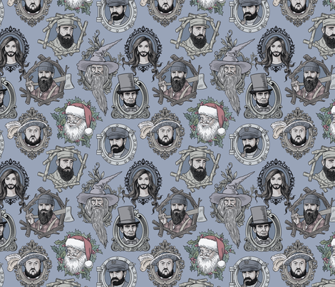christmasbeards1 fabric by in_wonderland on Spoonflower - custom fabric