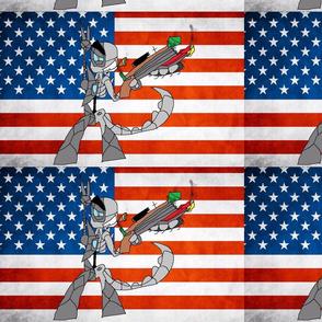 USA flag alien
