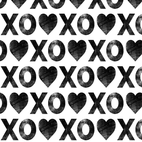 XO♥ // distressed fabric by littlearrowdesign on Spoonflower - custom fabric