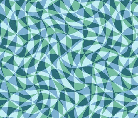 double triangles in soft aqua fabric by weavingmajor on Spoonflower - custom fabric
