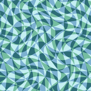 double triangles in soft aqua