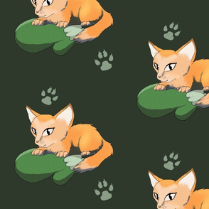 Ginger Kitten On Mitten