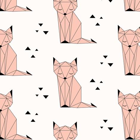 Sleepy Fox Peach fabric by kimsa on Spoonflower - custom fabric