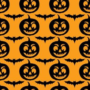 Cute Halloween Bats & Jack-O-Lanterns