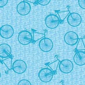 Retro Scattered Bicycles