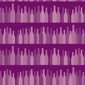 Rows Of Rosé Wine Bottles