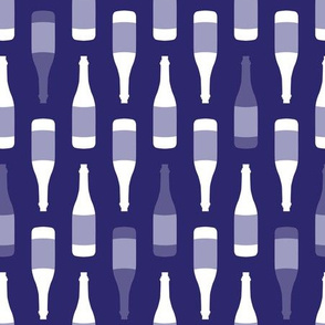 Rows Of Purple Wine Bottles