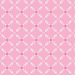 Snowflakes on Pink