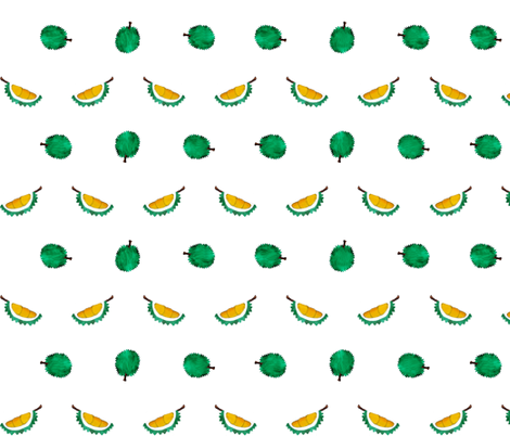 Durians - Singapore Tropical Fruits Series fabric by littleoddforest on Spoonflower - custom fabric