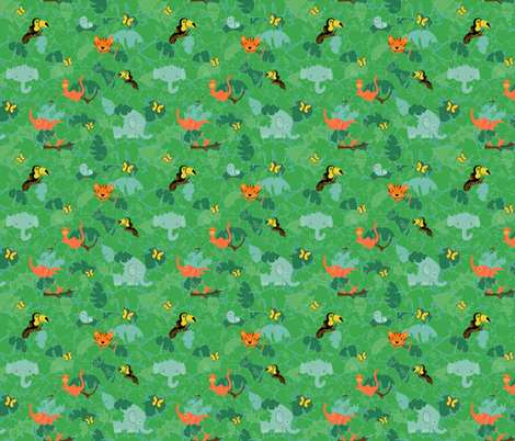 jungle fabric by jodysart on Spoonflower - custom fabric