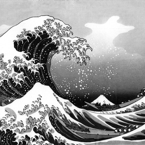 Hokusai's Wave (Black and White)