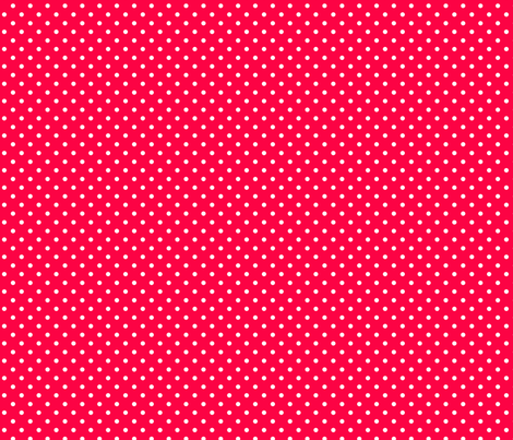 white dots on red fabric by nickwilljack on Spoonflower - custom fabric