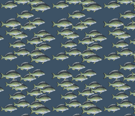 Fish all over in Reverse fabric by urban_gecko on Spoonflower - custom fabric