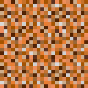 8-bit Pixel Blocks - Orange
