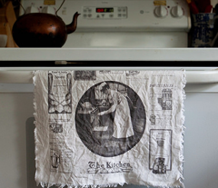Vintage Kitchen Ads tea towel