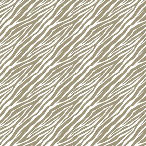 Gold White Zebra Print