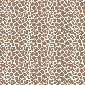 Gold Cream Giraffe Print