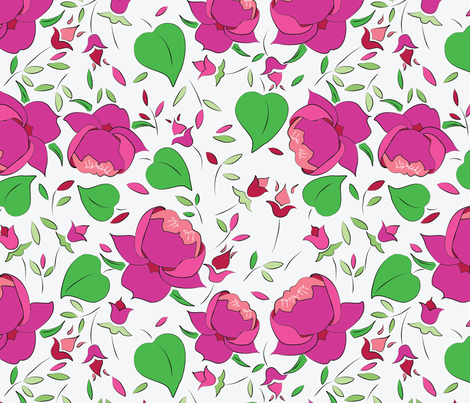 Rose Design fabric by megancarroll on Spoonflower - custom fabric
