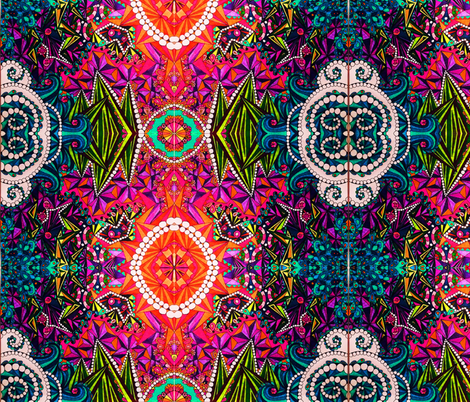 DMT Art fabric by izcolorfuluniverse on Spoonflower - custom fabric