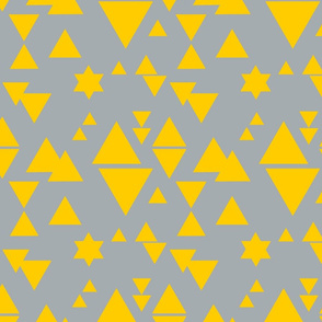 Triangle Triangle Little Star yellow and grey