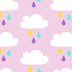 Colourful Rain Pink Big