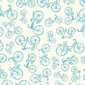 Bikes in blue