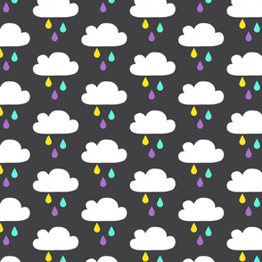 Colourful Rain - DarkGrey