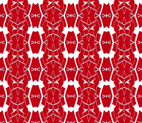 Geometric - red and white fabric by jeanlong on Spoonflower - custom fabric