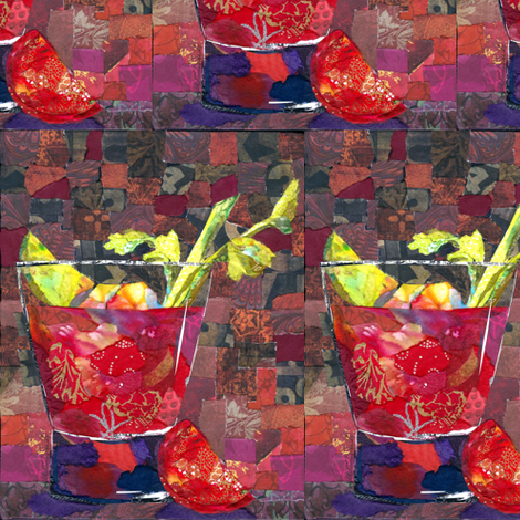 Bloody Mary fabric by tornpaperpaintings on Spoonflower - custom fabric