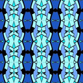 geometric - blue, aqua