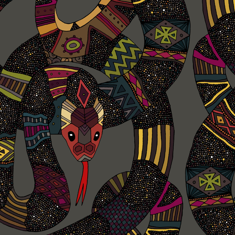 geo snakes lead fabric by scrummy on Spoonflower - custom fabric