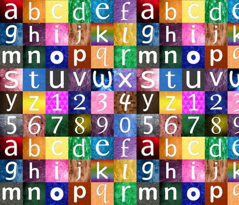 Children's Alphabet fabric by joyfulrose on Spoonflower - custom fabric