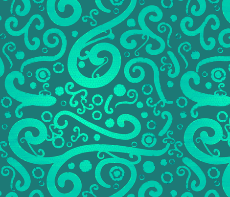 Ocean Green fabric by meisiesdoodles on Spoonflower - custom fabric