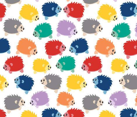 Happy Little Hedgehogs fabric by joyfulrose on Spoonflower - custom fabric