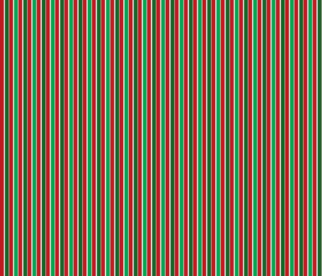 Christmas Stripes fabric by joyfulrose on Spoonflower - custom fabric
