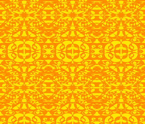 Orange and Yellow Abstract fabric by essieofwho on Spoonflower - custom fabric