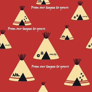 Our Teepee - Red