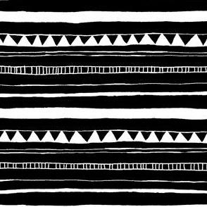 Drawn Stripe Black/White