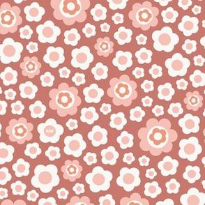 Vintage Floral - Coral