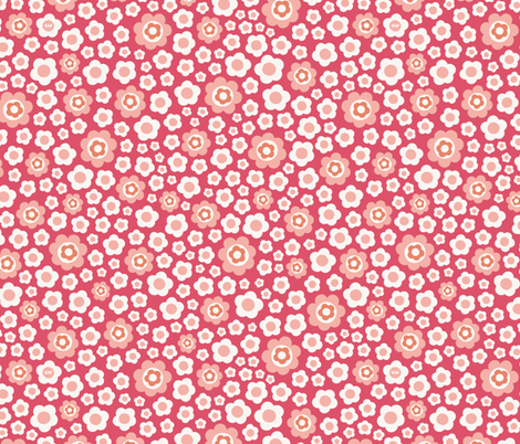 Vintage Floral - Candy fabric by studio_amelie on Spoonflower - custom fabric