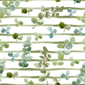 Eucalyptus and Clovers // Asparagus Stripes