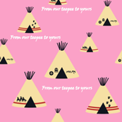 Our Teepee pink
