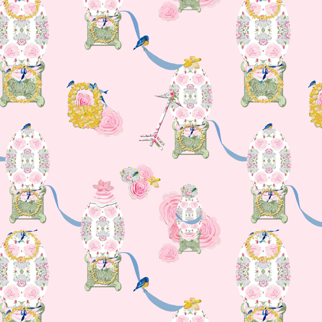 The Decorated Egg fabric by karenharveycox on Spoonflower - custom fabric