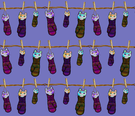 KITTENS IN MITTENS LAUNDRY Contest design fabric by paysmage on Spoonflower - custom fabric