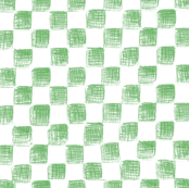white and green sketched checkerboard
