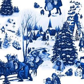 Vintage Winter Toile De Jouy