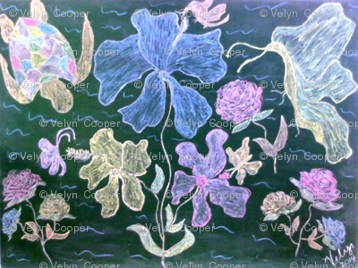 Turtle_diving_into_a_sea_of_flowers_preview