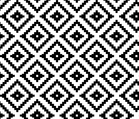 Aztec // black fabric by littlearrowdesign on Spoonflower - custom fabric